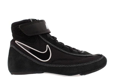 NIKE SPEEDSWEEP VII YOUTH WRESTLING SHOE - BLACK
