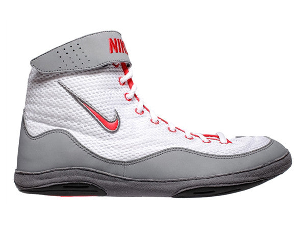 NIKE INFLICT 3 WRESTLING SHOES - WHITE/GREY