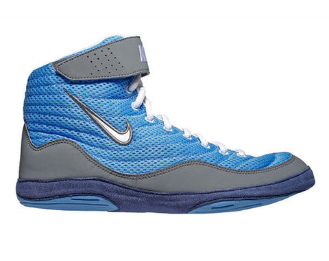 e6fb84d77020 NIKE INFLICT 3 WRESTLING SHOES - BLUE GREY
