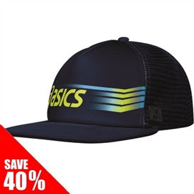 ASICS SIDESWIPE™ TRUCKER HAT - NAVY/WOW