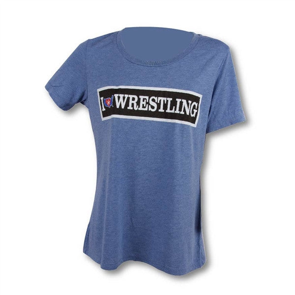 USA WOMEN'S I LOVE WRESTLING TEE