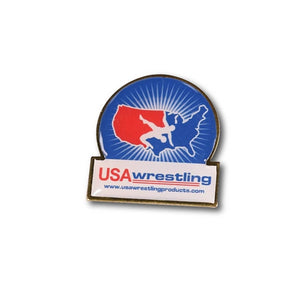 USA WRESTLING CIRCLE SHIELD PIN