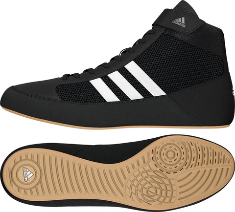 ADIDAS HVC 2 YOUTH WRESTLING SHOES - BLACK