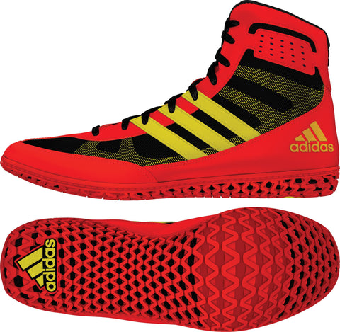 ADIDAS MAT WIZARD WRESTLING SHOES - ENERGY RED