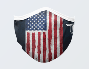 American Flag Vertical Mask