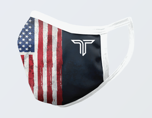 AMERICAN FLAG VERTICAL FACE MASK