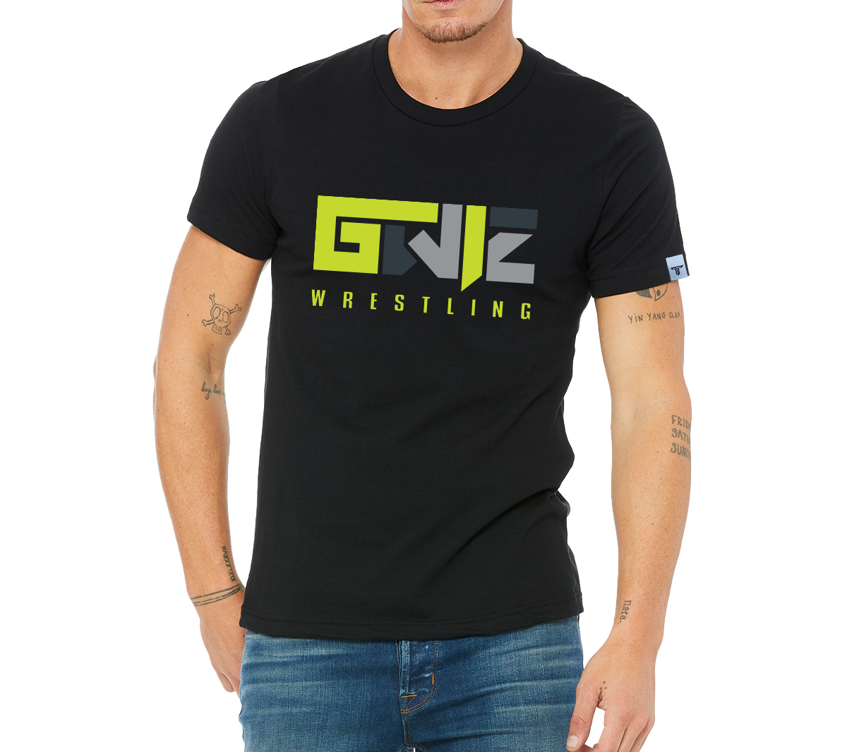 Gwiz Liberty Wrestling Tee - Black