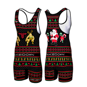 CHRISTMAS SWEATER WRESTLING SINGLET (MADE TO ORDER)