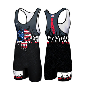 FLAMES CUSTOM WRESTLING SINGLET (MADE TO ORDER)