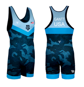 Gantt Blue UWW Competition Singlet