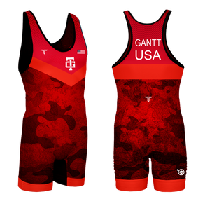 Gantt Red UWW Competition Singlet