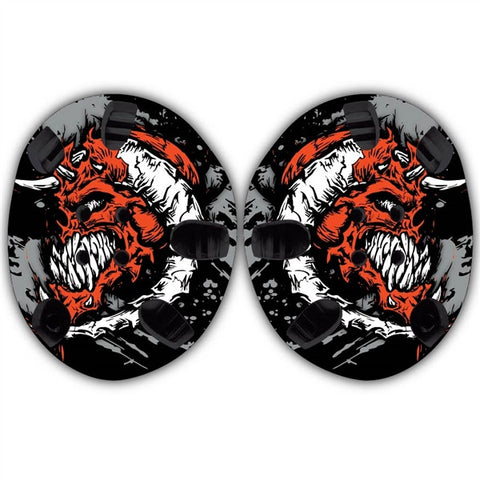 TAKEDOWN CUSTOM HEADGEAR WRAP - RED DEVIL