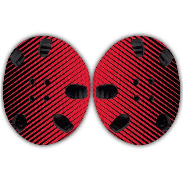 TAKEDOWN CUSTOM HEADGEAR WRAP - RED / BLACK STRIPE