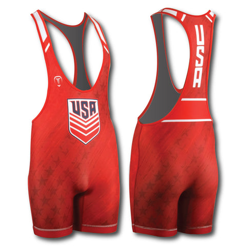 LOW CUT UWW RED SINGLET