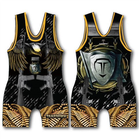 TAKEDOWN SINGLET - ARMED FORCES (MADE TO ORDER)