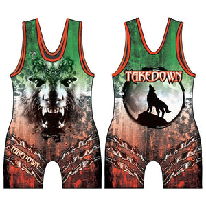 TAKEDOWN SINGLET - WOLFPACK (MADE TO ORDER)