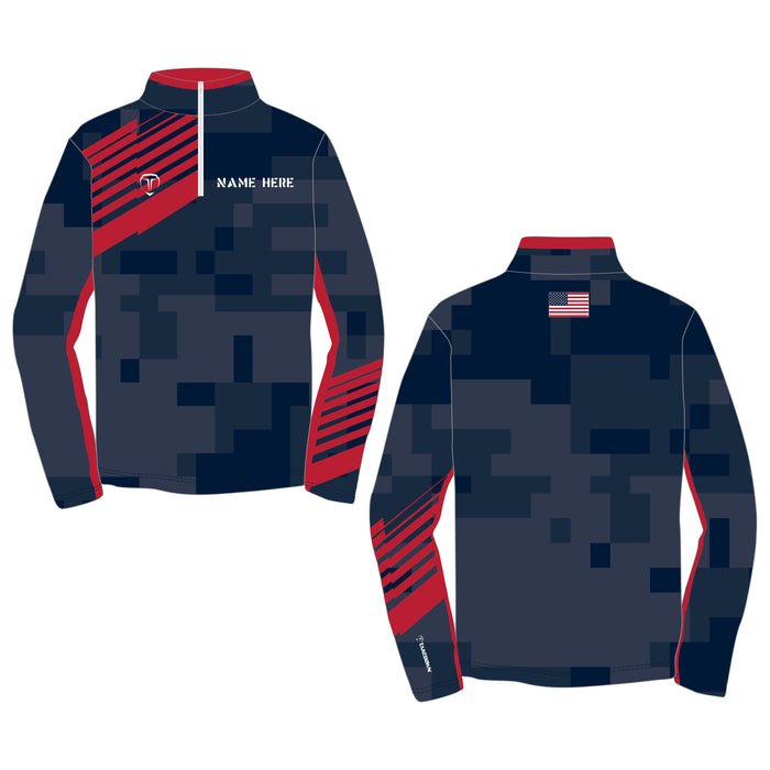 COMBAT CUSTOM QUARTER ZIP (MADE TO ORDER - 3 COLOR OPTIONS)