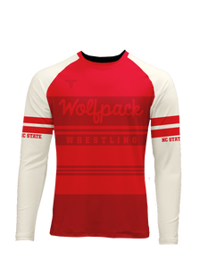 NC State Retro Sublimated LS Raglan