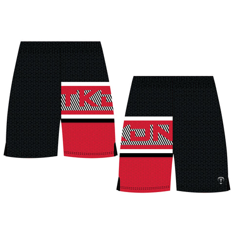 SLICK TKDN WRESTLING SHORTS (MADE TO ORDER - 4 COLOR OPTIONS)