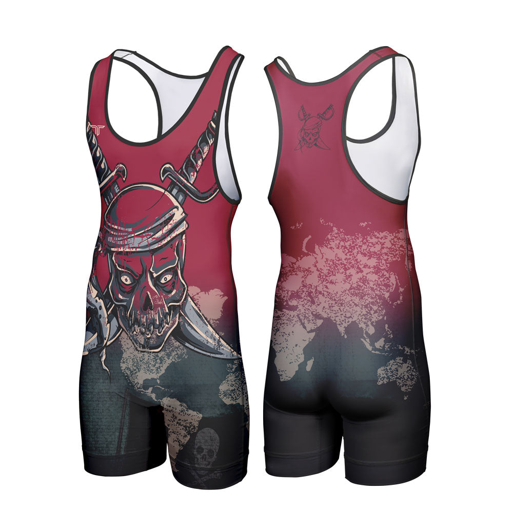 PIRATE WRESTLING SINGLET (MADE TO ORDER)