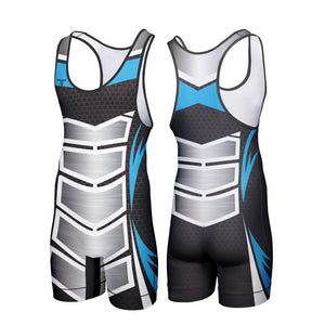TAKEDOWN SINGLET - BLUE ARMOR (MADE TO ORDER)