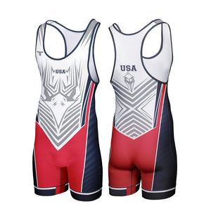 TAKEDOWN SINGLET - USA EAGLE (MADE TO ORDER)