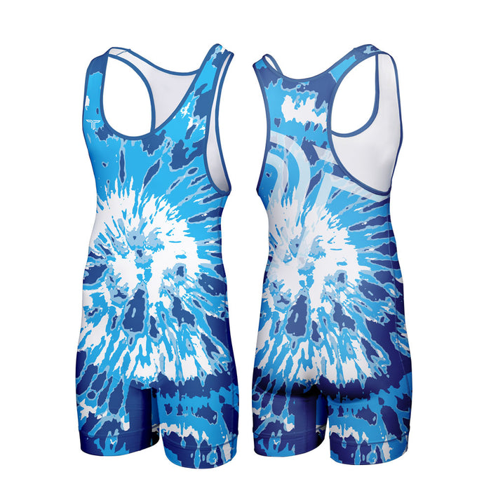 TIE DYE WRESTLING SINGLET (MADE TO ORDER - 4 COLOR OPTIONS)