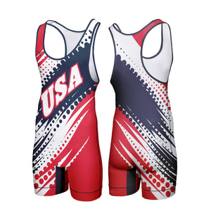 USA SWASH WRESTLING SINGLET (MADE TO ORDER)