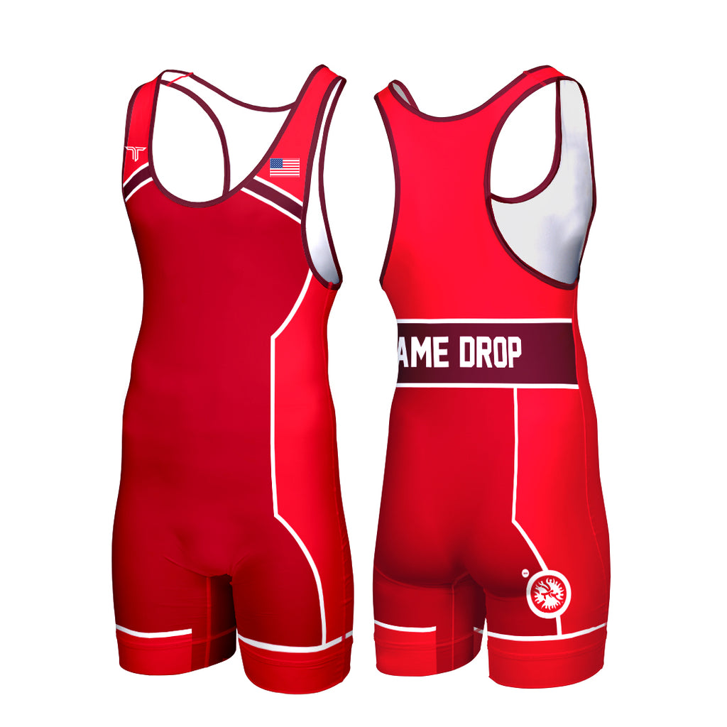 SUPLEX CUSTOM WRESTLING SINGLET RED (MADE TO ORDER)