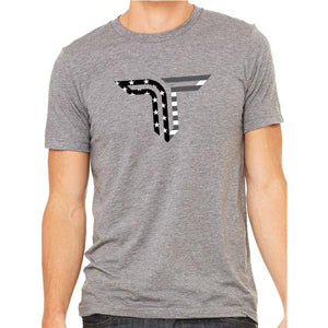 TAKEDOWN TEE FLAG ICON - GREY