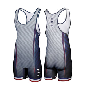 PATRIOT WRESTLING SINGLET (MADE TO ORDER)