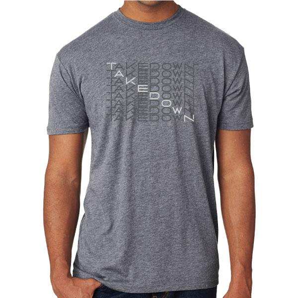 TEAM TAKEDOWN TEE WATERFALL - GREY