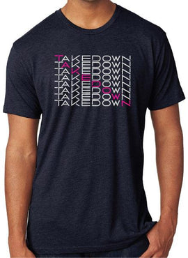 TEAM TAKEDOWN TEE WATERFALL - NAVY