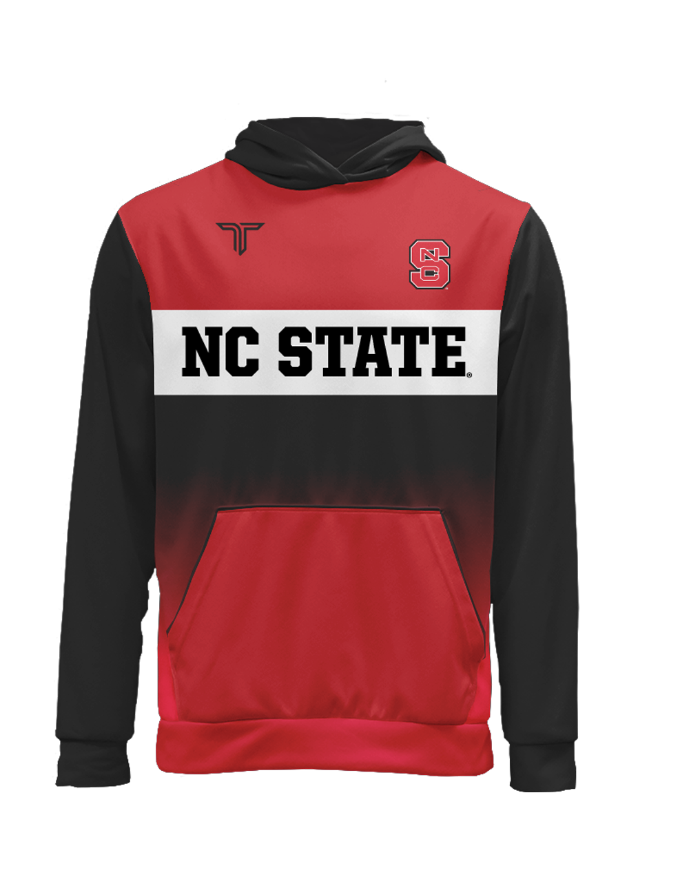 NC State Block Fade Sublimated Hoodie