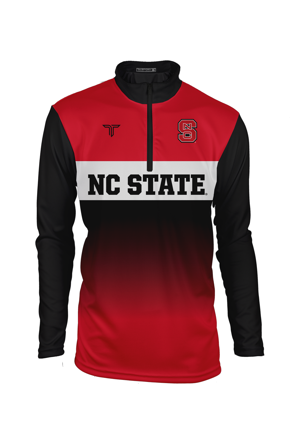 NC State Block Fade Sublimated Quarter Zip