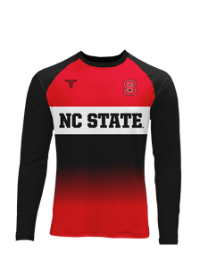 NC State Block Fade Sublimated LS Raglan