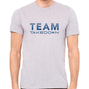 TEAM TAKEDOWN TEE SLASHED - GREY