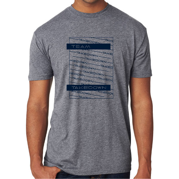 TEAM TAKEDOWN TEE STACKED - GREY
