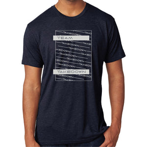 TEAM TAKEDOWN TEE STACKED - NAVY
