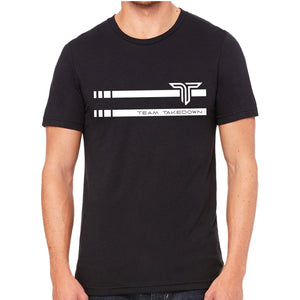 TEAM TAKEDOWN TEE STRIPE - BLACK