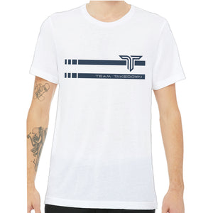 TEAM TAKEDOWN TEE STRIPE - WHITE