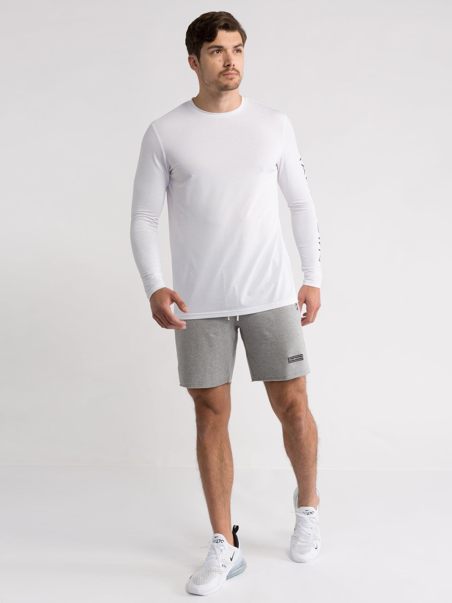 mens long sleeve white tee