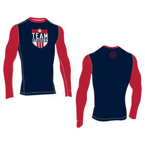 TEAM TKDN LONG SLEEVE COMPRESSION TOP (MADE TO ORDER)