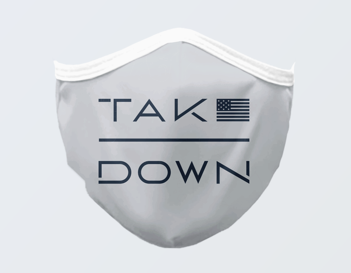 TEAM TAKEDOWN FLAG FACE MASK