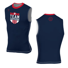 TEAM TKDN SLEEVELESS COMPRESSION TOP (MADE TO ORDER)