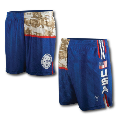 USA CAMO WRESTLING SHORTS