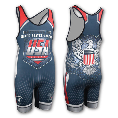 USA NATIONAL WRESTLING SINGLET