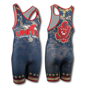 Freestyle Greco Singlet, Red Blue Singlet