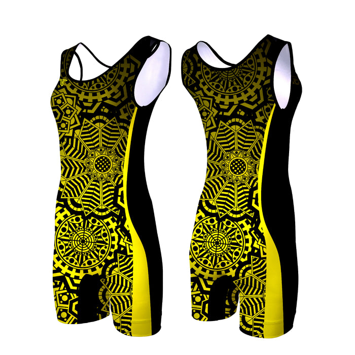 ZEN TANGLE WOMEN'S WRESTLING SINGLET (MADE TO ORDER - 4 COLOR OPTIONS)