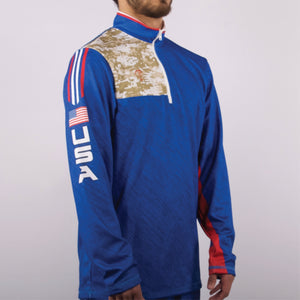 Military Camo Quarter Zip, Tactical Jacket